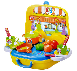 Toyshine Luxury Kitchen Set with Briefcase, Accessories, Yellow