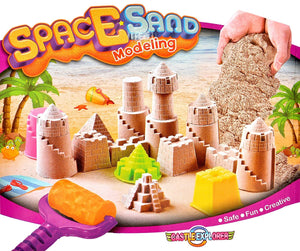 Toyshine Space Sand Modelling Castle Making Creative Game (Multicolour)