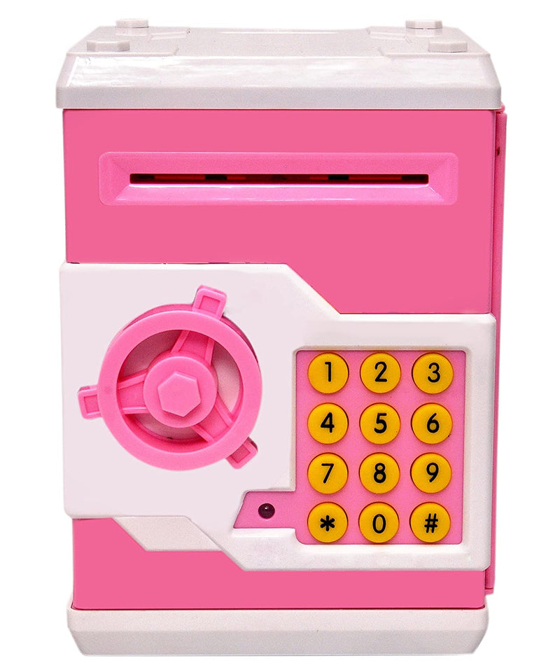 Toyshine Piggy Bank Money Box with Electronic Lock, ATM Machine, Pink