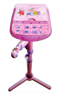 Toyshine Karaoke Microphone with Mp3 Function, Adjustable Height, Pink