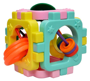 Toyshine 2 in 1 Rattles and Cube Puzzle