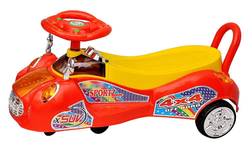 Toyshine SUV Magic Car Ride-on Toy (Assorted Color)