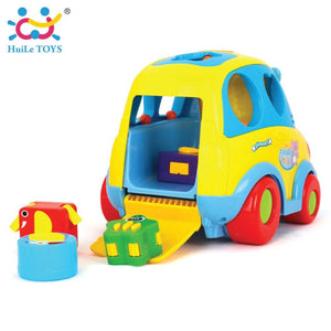 Toyshine Intellectual School Bus Activity Toy Vehicle with Music, Sounds, and Lights 896