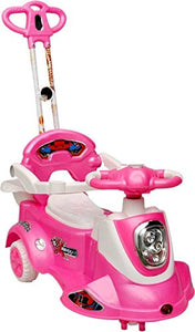 Toyshine Plastic Ride-on Toy Caliber Magic Car with Parent Control Rod (Pink)