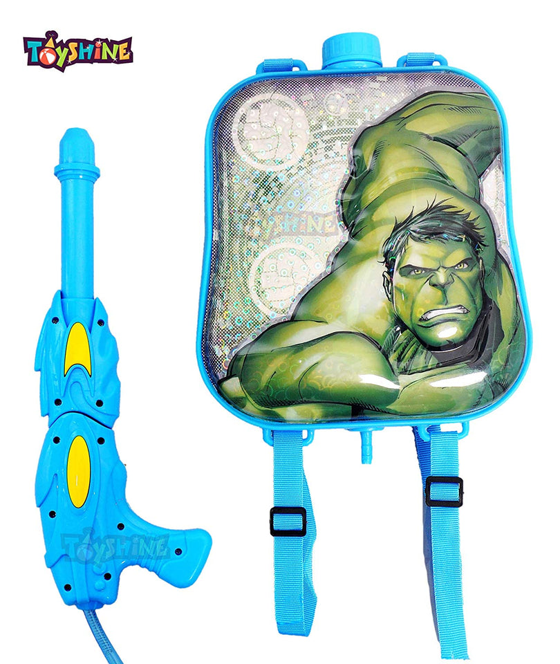 Toyshine Startoys Holi Water Pichkari with High Pressure, Back Holding Tank, 3.0 L, Hulk