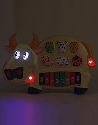 Toyshine Cow Musical Piano with Lights (MOQ: 6Pcs)