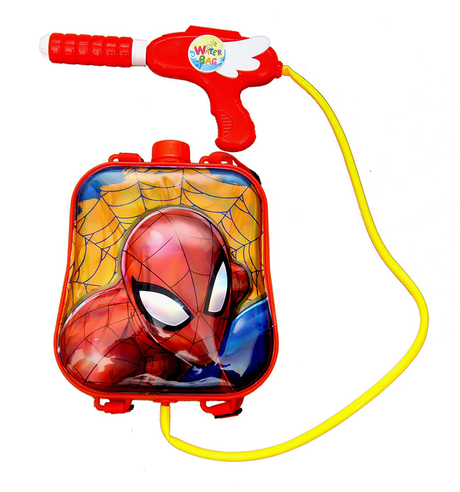 Toyshine Startoys Holi Water Pichkari with High Pressure, Back Holding Tank, 3.0 L, Spiderman, Red