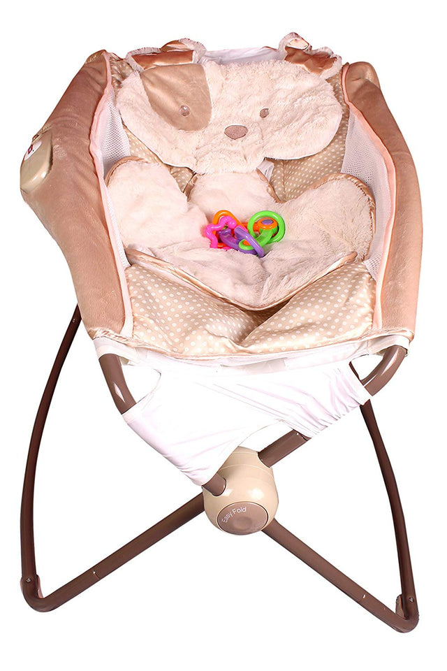 Toyshine Deluxe Sleeper Baby Rocker with Calming Vibrations (Multicolour)