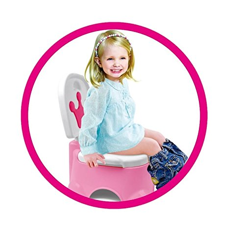 Toyshine Crown Step Stool Potty Seat with 4 Tune Music (PINK)