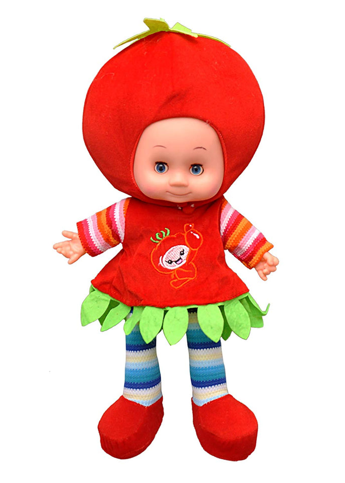 Toyshine 18 inches Singing Baby Soft Doll, Touch Sensors, Red