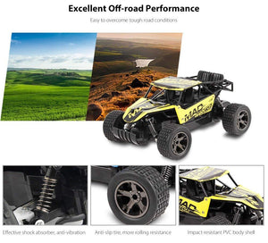 Toyshine 1:18 Cross Country Off Road Rock Car Remote Control Car, Assorted Color