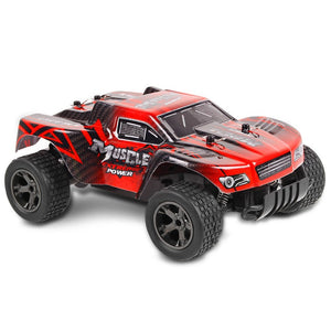 Toyshine Mad Race Remote Control RC Buggy Truck Car 2.4 GHz System 1:18 Scale Size Working Suspension, High Speed, Rechargeable, Assorted Color