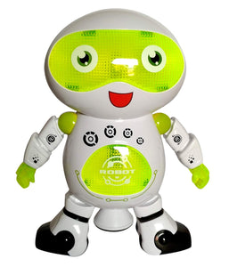 Toyshine Dancing Robot with 3D Lights and Music, Green White