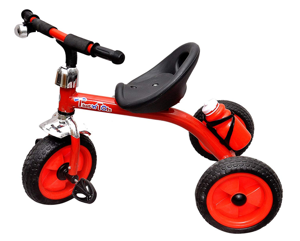 Toyshine Tikes N Tots Tricycle Ride-on Bicycle, Metal Body, 3-6 Years (Red)