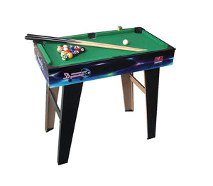 Toyshine Plastic Pool Billiard Table, Portable, Snooker Table Toy, 24-inch (Multicolour) 202H