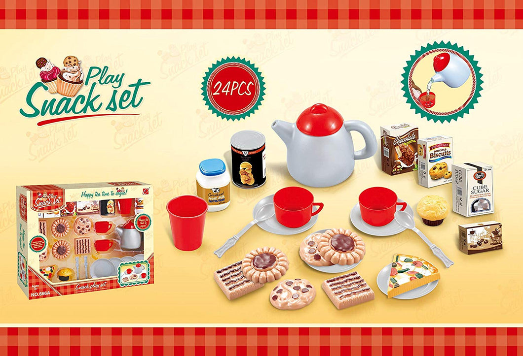 Toyshine 23 Pieces Tea Toy ABS Plastic - Kitchen Play Set