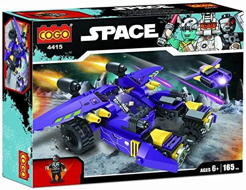 Toyshine Space Ship Blocks Set, ABS Plastic Construction Toy 165 Pieces - 4415 (Model 5)
