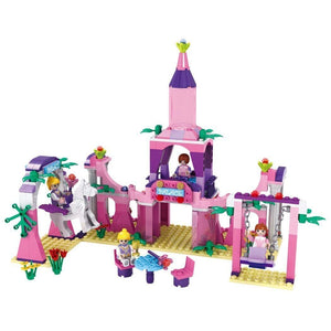 Toyshine ABS Plastic Princess Castle Palace Building Blocks Construction Toy (Multicolour, 3273) - Set of 346