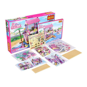 Toyshine ABS Plastic Dream Beach Villa Building Blocks (Multicolour) - 432 Piece