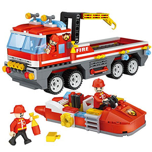 Toyshine ABS Plastic Firefighter and Rescue Blocks Construction Toy Set (Multicolour, 4136) - 354 Pieces