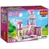 Toyshine ABS Plastic Construction Princess Royal Castle Palace Building Blocks (Multicolour, 3262)- 254 Pieces