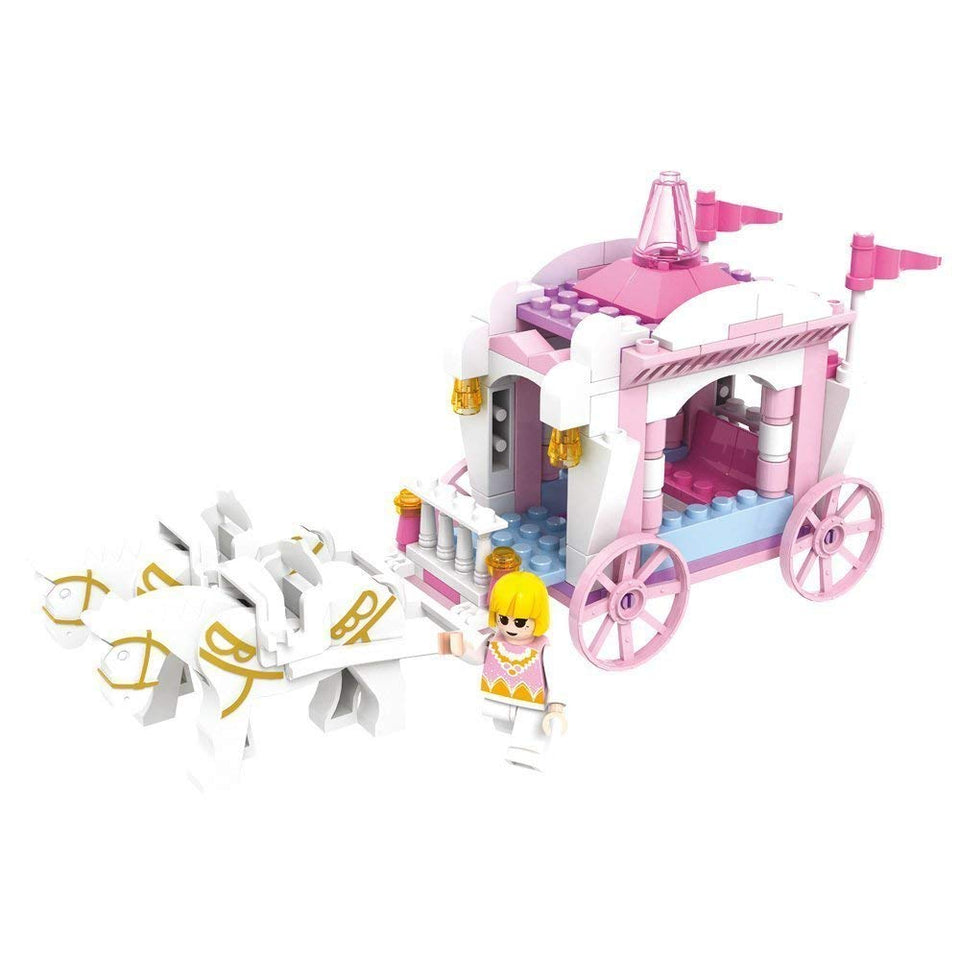 Toyshine Princess Carriage Building Blocks, ABS Plastic Construction Toys (3267)