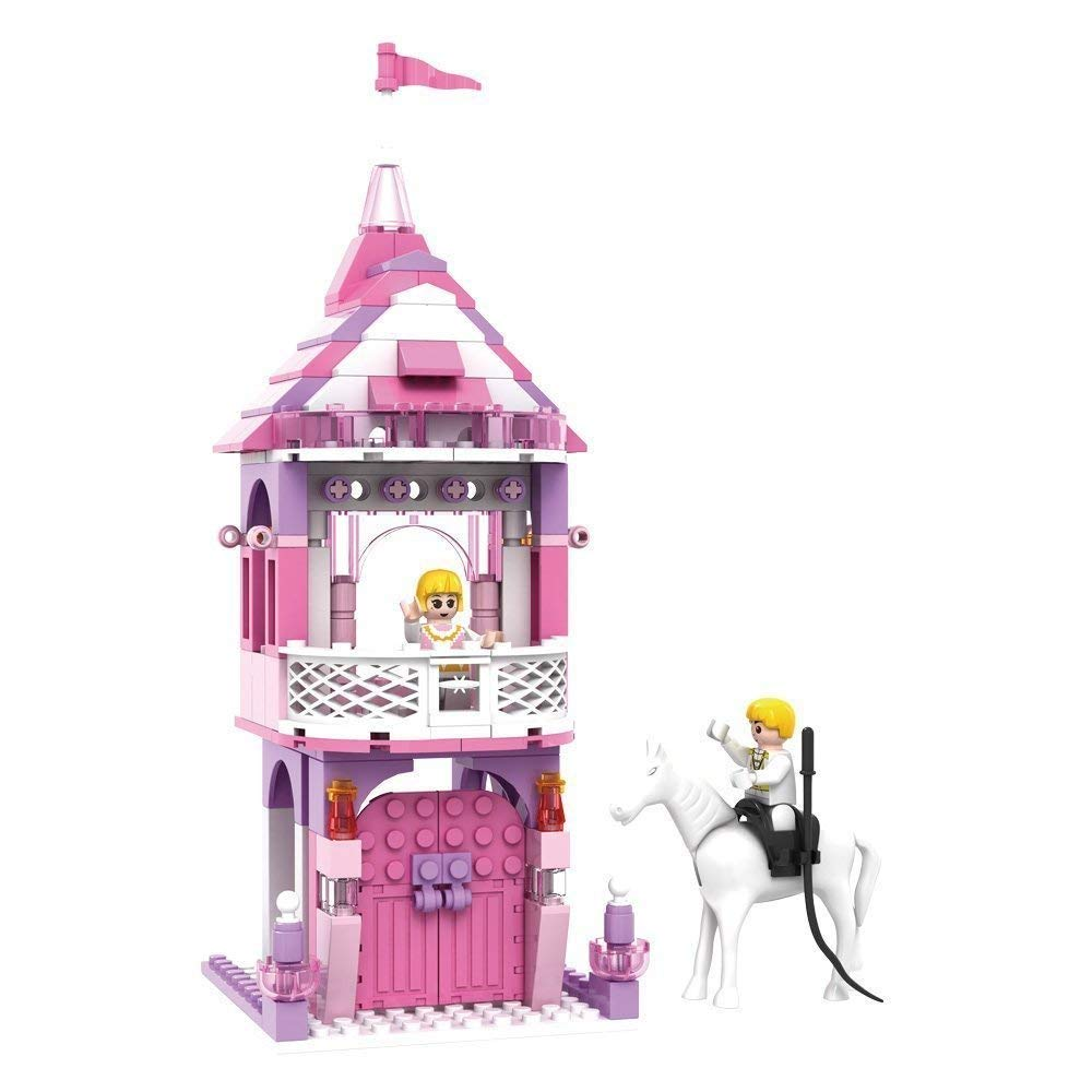Toyshine Princess Castle Tower Building Blocks, ABS Plastic Construction Toy - (3269) (MOQ: 6Pcs)