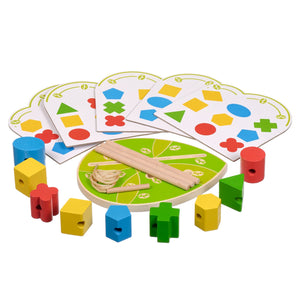 Toyshine Wooden Educational Preschool Geometric Shape, Colour Recognition Stacking Sorting Puzzle Toy