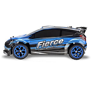 Toyshine Kid's Plastic Rally Racing 4WD Rock Crawler Rechargeable Remote Control Car, 14.96x9.06x8.46 Inches