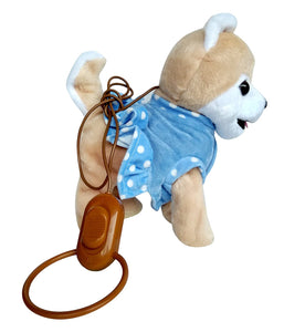 Toyshine Musical Soft Dog Toy with Moving Tail, Running Function (Brown, Assorted Design)