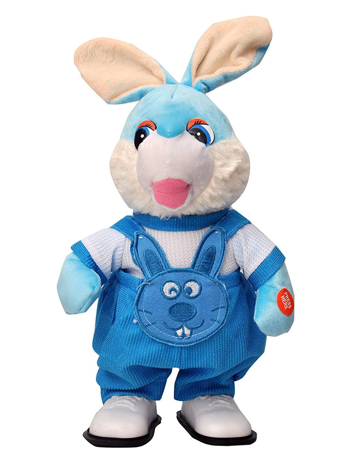Toyshine Musical Soft Rabbit Toy with Moving and Running Function, Assorted Color