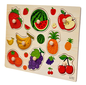 Toyshine Wooden Puzzle Toy, Educational and Learning Toy - Fruit