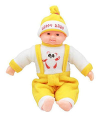Toyshine 18 Inches Baby Musical and Laughing Boy Doll, Touch Sensors, Yellow, Assorted Design