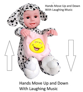 Toyshine Musical LOL Peek-a-boo Realistic Baby Doll Toy with Moving and Arms, Assorted Color
