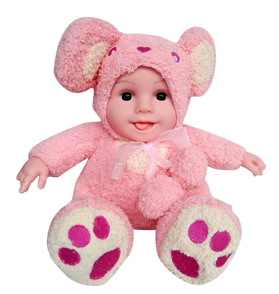 Toyshine Musical Fluffy Realistic Baby Toy with Music, Bear Shaped, Assorted Color