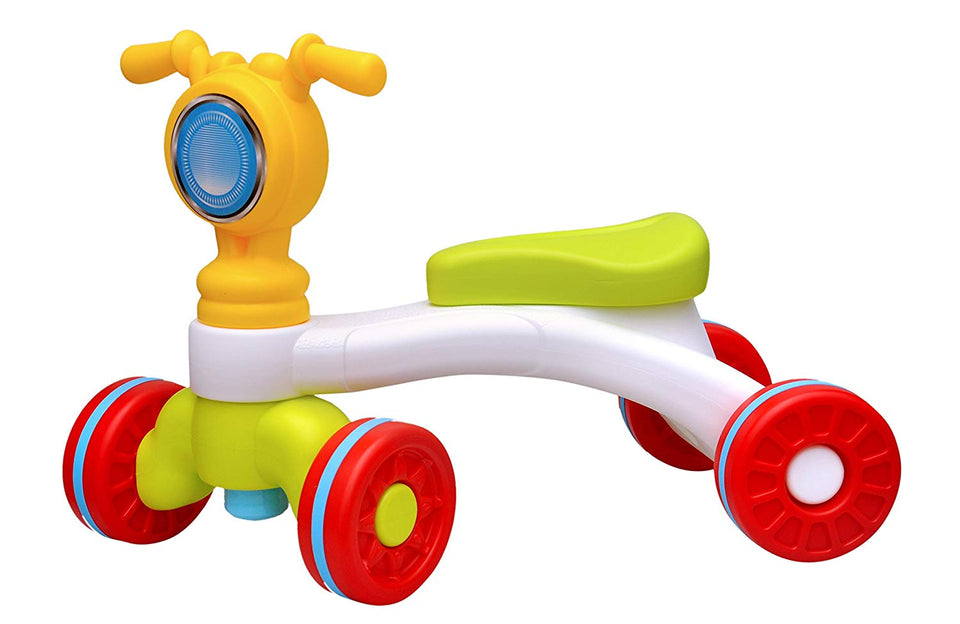 Toyshine 2-in-1 Motorcycle Cum Ride-on Toy, 1-3 Years (Multicolour)