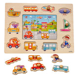 Toyshine Wooden Puzzle Toy, Educational and Learning Toy - Vehicles Puzzle