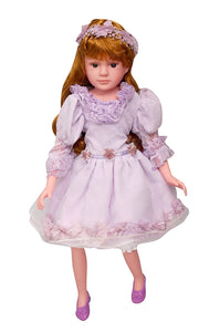 Toyshine 18 Inches Princess Rhymes Singing Boy Doll, Touch Sensors, Purple