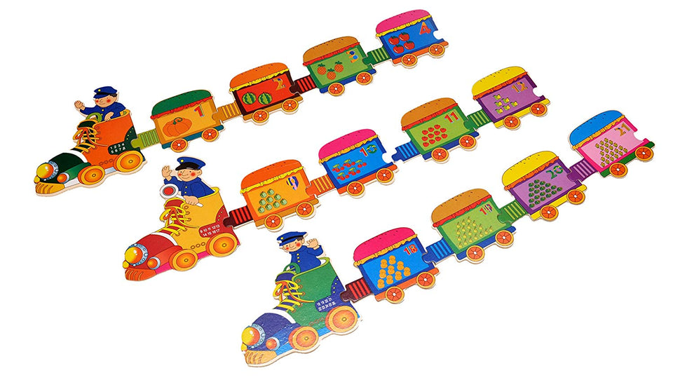 Toyshine 123 Train Puzzle Numbers Toy, Educational and Learning Toy - 123
