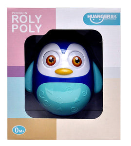 Toyshine Push and Shake Wobbling Roly Poly Tumbler Doll, Bell Sounds, 1 Pc, Assorted Color