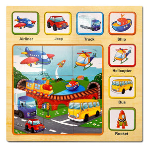 Toyshine Wooden Puzzle Toy, Educational and Learning Toy - Vehicles Puzzle-2
