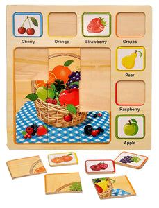 Toyshine Wooden Puzzle Toy, Educational and Learning Toy - Fruits Puzzle