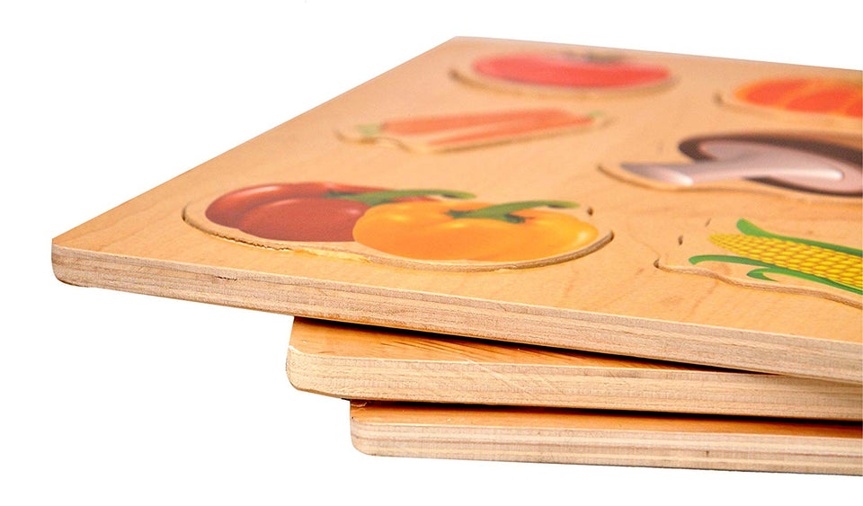 Toyshine Wooden Puzzle Toy, Educational and Learning Toy - Vegetable