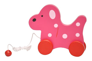 Toyshine 5 in 1 Wooden Pull Along Animal Toy with Rolling Tyres and Thread to Hold