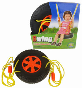 Toyshine Wheel Design Real Action Swing Seat Set with Rope for Garden,Indoor,Outdoor Fun for Kids
