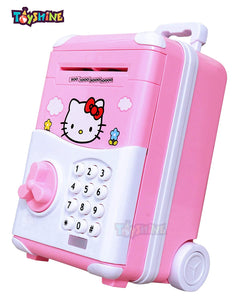 Toyshine Money Safe Kids Piggy Bank with Electronic Lock, Briefcase Model - Pink