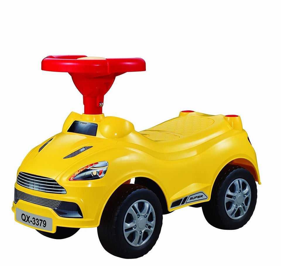 Toyshine Sports Car Rider Ride-on Toy with Music, 1.5-3 Years, Assorted Color
