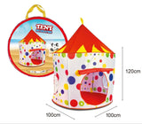 Toyshine Circus Castle Tent House for Kids, White Red