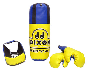 Toyshine Dixon Kids Royal Polyester Boxing Kit with Gloves and Head Guard, Small (18 Inches) - 3-6 Years, Yellow
