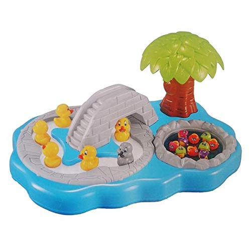 Toyshine Fish Catching Game Big with 10 Fishes, 7 Ducks, 2 Containers, Music, Assorted Color